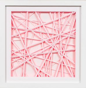 Luminate, 2015 Hand cut paper and acrylic paint 13 1/4 x 13 1/4 inches