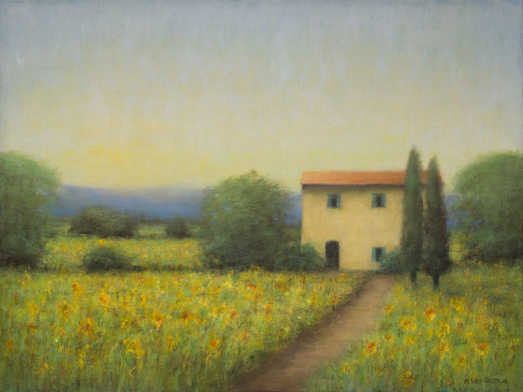 Sunflower-Fields-in-Tuscany-30-x-40-Oil-on-Linen-1024x767