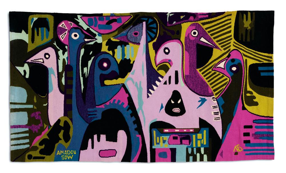 amadou-sow-Les-Oiseaux-du-Djoudj-tapestry-135533