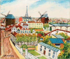 elisee-maclet-les-moulins-de-montmartre-et-la-tour-eiffel-findlay