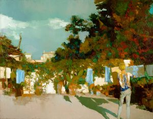 findlay-galleries-nicola-simbari-Terrace in Trastevere