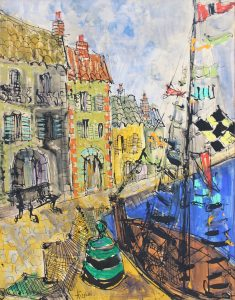 Findlay-Galleries-Paul-Aïzpir-Port-de-Honfleur