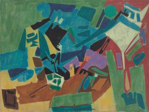 Findlay Galleries Leonard Edmondson Untitled #28 c. 1950 oil on canvas