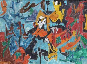 Leonard Edmondson Abstract Painting Findlay Galleries